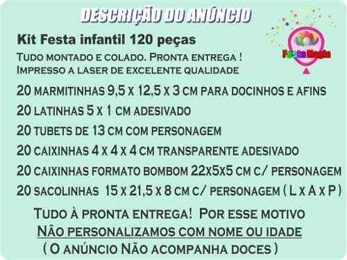 Kit Festa Infantil Mini Beat Power Rockers 120 Peças