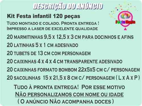 Kit Festa Infantil Magali Baby 120 Peças