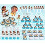 Kit Festa Infantil Moana Baby 161 Peças