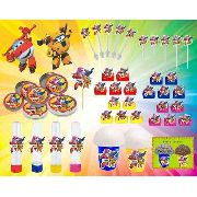 Kit Decorativo Infantil Super Wings 265 Peças