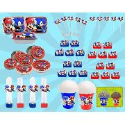 Kit Decorativo Infantil Mario X Sonic 292 Peças