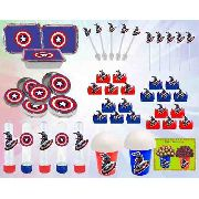 Kit Festa Infantil Capitão América 160 Peças
