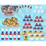Kit Festa Infantil Sonic 110 Peças (10 pessoas)