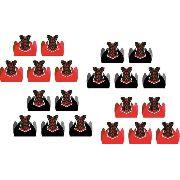 50 Forminhas Chá De Lingerie (vermelho E Preto)