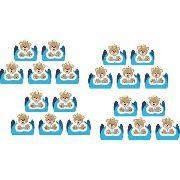 50 Forminhas E 50 Mini Colheres Urso Príncipe (azul Claro)