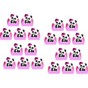 50 Forminhas Panda Menina