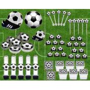 Kit Festa Infantil Futebol (preto)107 Peças
