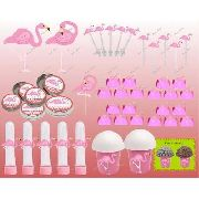 Kit Festa Infantil Flamingo 143 Peças