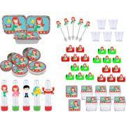 Kit festa Infantil A Pequena Sereia Baby (Cute) 170 peças