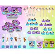 Kit Festa Infantil Aladdin e Jasmine 160 Peças