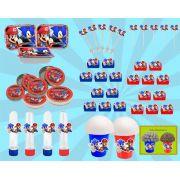 Kit festa Infantil Sonic X Mario 160 peças