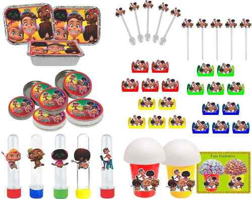 Kit Festa Infantil Mini Beat Power Rockers 106 Peças