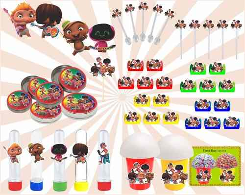 Kit Festa Infantil Mini Beat Power Rockers 143 Peças
