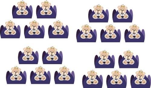 Kit Festa Urso Príncipe (azul Escuro) 143 Peças