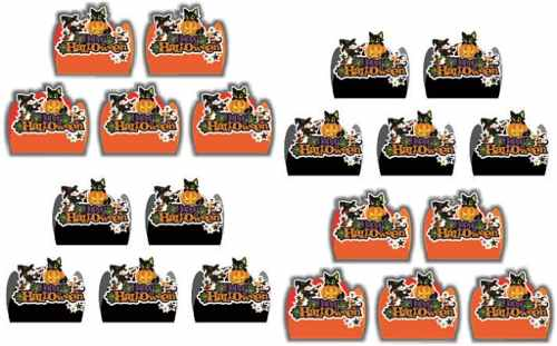 Kit Festa Infantil Halloween (preto E Laranja) 143 Peças