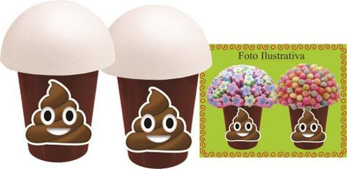 Kit Festa Infantil Emoji Cocô (cocozinho) 292 Peças