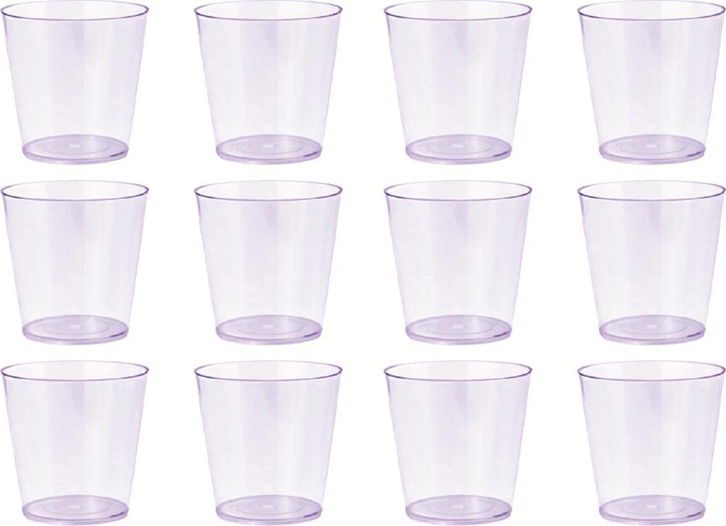 20 copinhos de 25 ml transparentes