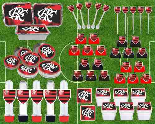 Kit Festa Time Flamengo 114 Peças