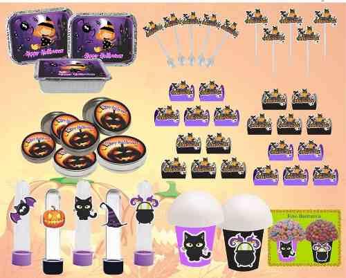 Kit Festa Infantil Halloween (preto E Lilás) 292 Peças