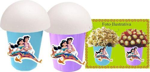 Kit Festa Infantil Aladdin E Jasmine 265 Peças