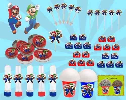 Kit Festa Infantil Mario Bros143 Peças