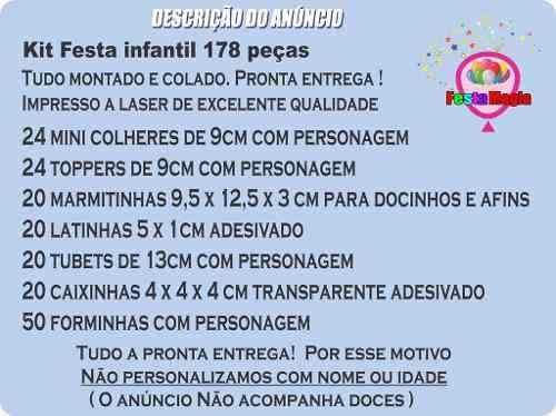 Kit Festa Girassol 178 Pças