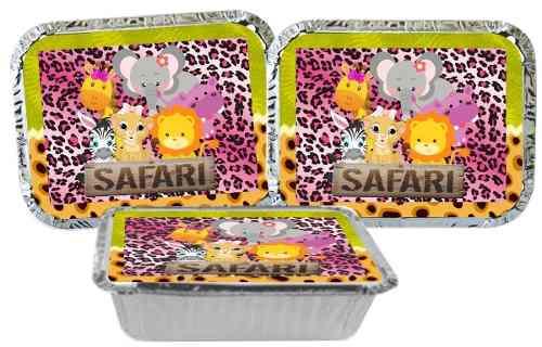 Kit Festa Safari Menina 110 Peças (10 pessoas)