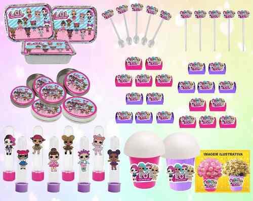 Kit Festa Infantil Lol Surprise (pink E Lilás) 106 Peças