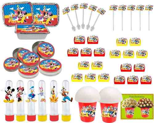 Kit Festa Infantil Mickey E Sua Turma 106 Peças