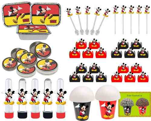 Kit Festa Infantil Mickey 106 Peças