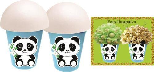 Kit Festa Infantil Panda Menino (azul) 99 Peças