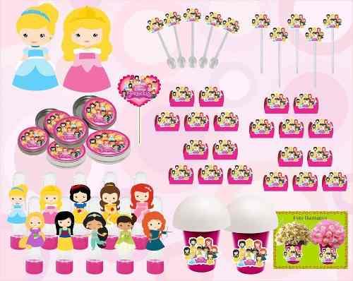 Kit Festa Infantil Princesas Baby 143 Peças