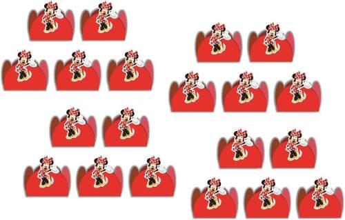 50 Forminhas Minnie Vermelha