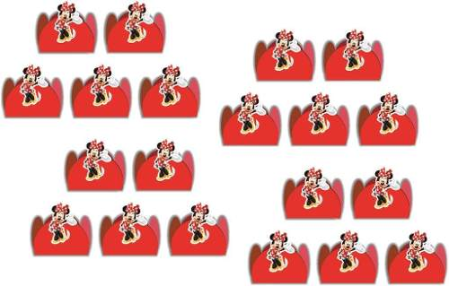 Kit Festa Infantil Minnie Vermelha 352 Peças