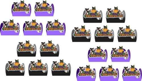 Kit Festa Infantil Halloween (preto E Lilás) 352 Peças