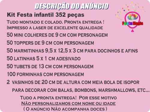 Kit Festa Infantil Chaves 352 Peças
