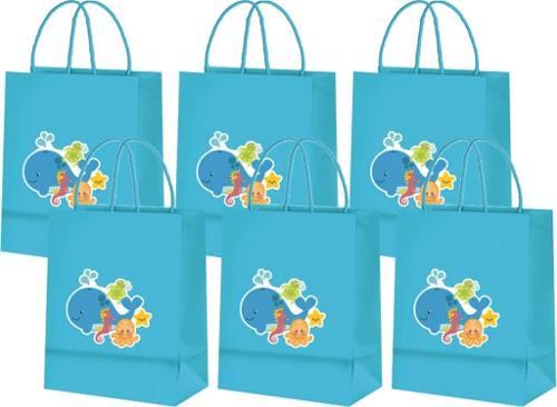 Kit Decorativo Infantil Fundo Do Mar 60 Peças
