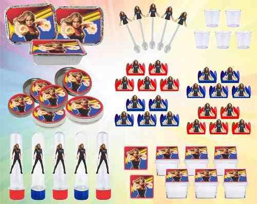 Kit Festa Infantil Capitã Marvel 170 Peças
