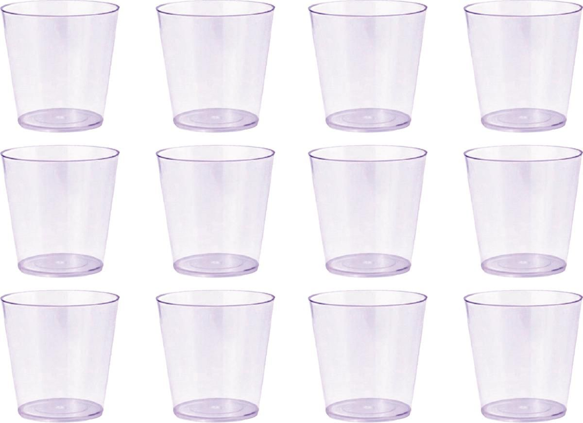 50 copinhos de acrílico  transparente de 25 ml