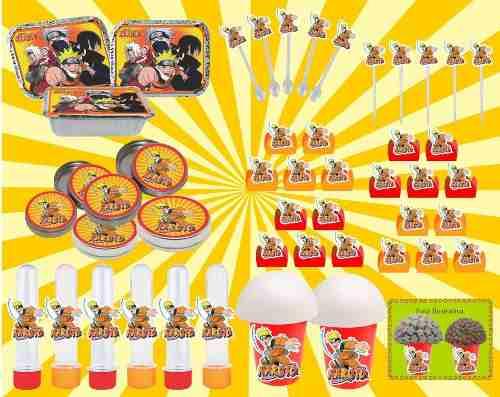 Kit Festa Infantil Naruto 160 Peças