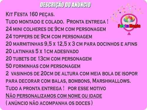 Kit Festa Infantil Galinha Pintadinha Mini Rosa 160 Peças