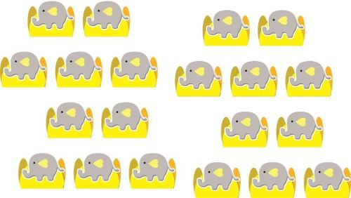 Kit Festa Infantil Elefantinho (cinza E Amarelo) 114 Pças