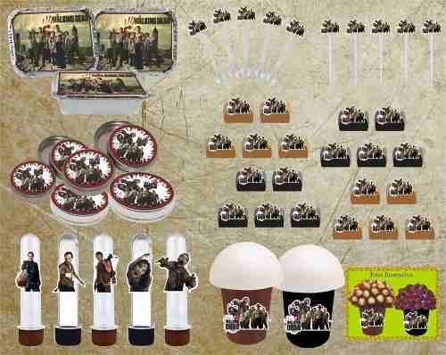 Kit Festa The Walking Dead 160 Peças