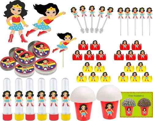 Kit Festa Infantil Mulher Maravilha Baby 265 Peças