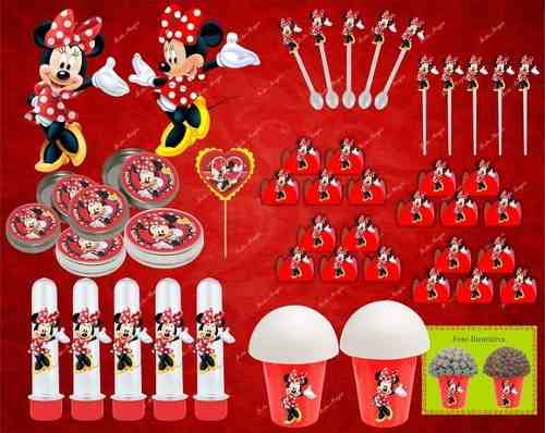 Kit Festa Infantil Minnie Vermelha 143 Peças