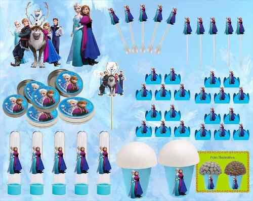 Kit Festa Infantil Frozen 143 Peças