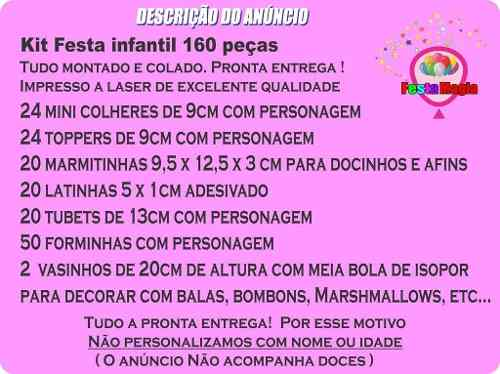 Kit Festa Infantil Homem Aranha 160 Peças