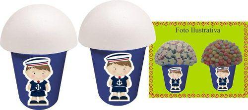 Kit Festa Infantil Menino Marinheiro (azul Escuro) 265 Peças