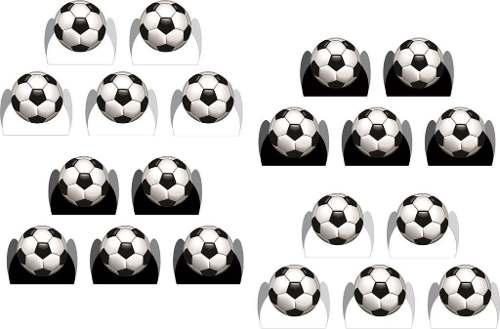 Kit Festa Infantil Futebol (preto E Branco) 107 Peças