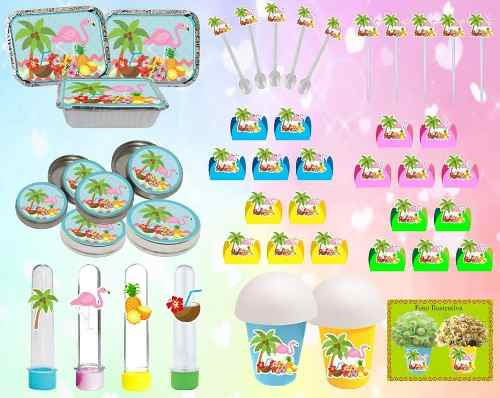 Kit Festa Tropical Flamingo 160 Peças